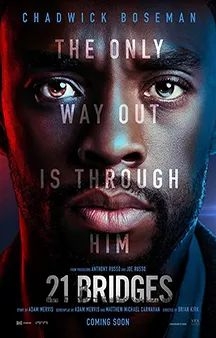 21 Bridges USA Action thriller Chadwick Boseman (+co-prod), Sienna Miller, JK Simmons, Taylor Kitsch, Keith David. Taylor Kitsch, Film Venom, Sienna Miller, Fast And Furious, Movies 2019, New Movies, Watch Movies, Latest Movies, Popular Movies