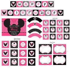 Minnie Mouse birthday printable package