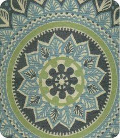 Mandala in Marina from Lewis & Sheron Textiles