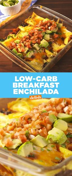 Breakfast Enchiladas are so good you won't even miss the tortilla. Get the recipe at .Low-Carb Breakfast Enchiladas are so good you won't even miss the tortilla. Get the recipe at . Low Carb Dinner Recipes, Brunch Recipes, Breakfast Recipes, Cooking Recipes, Healthy Recipes, Sweets Recipes, Breakfast Ideas, Fall Recipes, Low Carb Breakfast