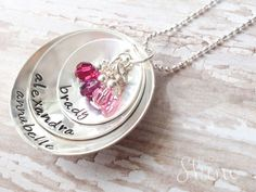 Hey, I found this really awesome Etsy listing at https://www.etsy.com/listing/151015182/sterling-stacked-disc-mommy-necklace