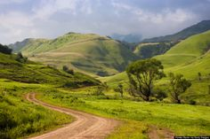 The Drakensberg, South Africa Four valleys and a national park make up this massive expanse of hills and peaks (home to the second-highest waterfall in the world). You can climb all over them!