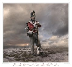 21st (Royal North British Fusiliers) Regiment of Foot, 1st Battalion, 1812. Private, Light Company. 1st Battalion on the American coast from August 1814 to March 1815. Main engagements: Bladensburg, Washington, Goodley Woods, New Orleans, Fort Bowyer.