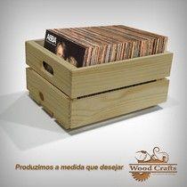 Caixotes para LPs - Wood Crafts - 50x35x30cm