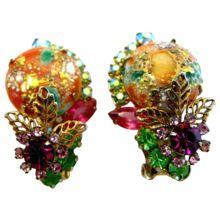 Delizza and Elster (AKA:  Juliana) Coral Easter Egg Earrings