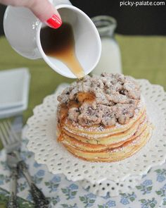 chocolate chip pan cakes with cookie dough crumble more chocolate chip ...