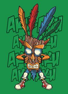Aku aku crash bandicoot by mattmcmanis video game art for Aku aku tattoo