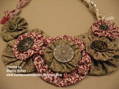 Yoyo Fabric Necklace