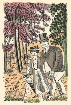 Edward Bawden's 'Adam and Evelyn at Kew (aka 'Revolt in the Gardens')', 1930.  Edition of 1,060. Text by Robert Herring. 13 full-page colour printed illustrations, 6 other colour text illustrations and illustrated endpapers all by Edward Bawden