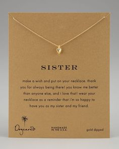 Dogeared - Sisters Heart Pendant Necklace