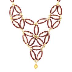 Siam Crystal Statement Necklace