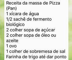 Pizza de banana e canela - Junia (ingredientes massa)
