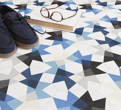 Playfully random Keidos floor tiles by MUT Design