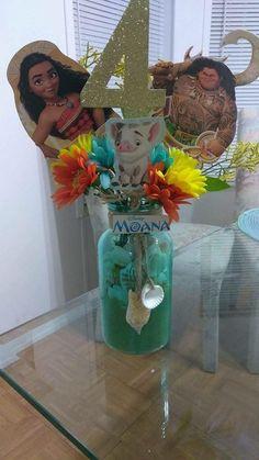 Centros de mesa para fiesta de Moana http://tutusparafiestas.com/centros-mesa-fiesta-moana/ #KidsFashionParty