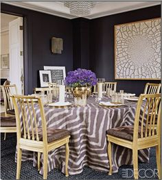 foam core bridal show display | found this dining room photo in Elle Decor while doing some research ...