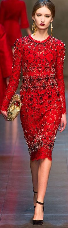 DOLCE GABBANA | Sparkly Red Dress |=