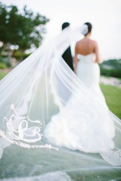 Monograms Wedding Veil Ideas