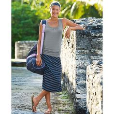 Splendor Stripe Skirt | Athleta