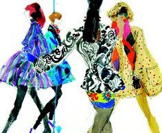 Fashion illustration by Kenneth Paul Block.