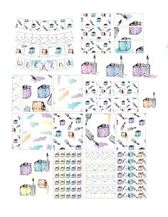 Free Printable Nail Polish Planner Stickers from Laughing and Losing It