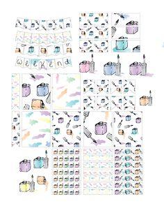 Free Nailpolish Planner Stickers
