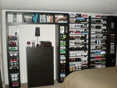 credit: Randy Mueller [http://www.ikeahackers.net/2011/03/lack-wall-of-shoe-shelves-and-storage.html]