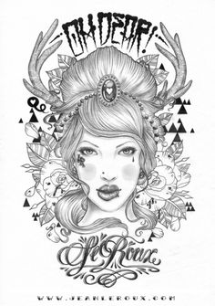 Jean Le Roux - OH OH OH DEAR! … ( after hours and hours of scribbling with the ol 4H and HB finally finnished this badboy ) … been so long since i finnished an illustration just with lead, forgot how good it was )  Prints of this available soon. A3, A4 and A5 …. so check out www.jeanleroux.com soonish.