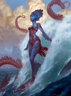Kiora, the Crashing Wave (Elspeth vs. Kiora)