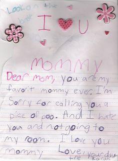 Scorned kids' letters.