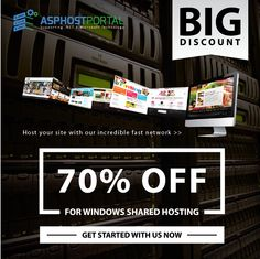 Good news for you are searching Best ASP.NET Hosting. ASPHostPortal.com, The Leader of ASP.NET Hosting offer BIG DISCOUNT 70% for their Windows Shared Hosting Plan. They also give uptime and 30 days money back guarantees. There are so many clients prove that ASPHostPortal give fast & stable network, and best technical support. We highly recommend you to host your site on ASPHostPortal.com.
