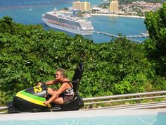 (Bobsled Jamaica shore excursion - Ocho Rios, Jamaica) This was amazing Jamaica Cruise, Cruise Port, Cruise Vacation, Vacations, Ocho Rios, Cruise Excursions, Cruise Destinations, Shore Excursions, Caribbean Carnival