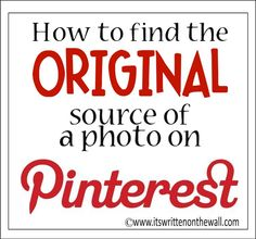 It's Written on the Wall: Tips and Tricks-Including a Sweet Pinterest Tip!