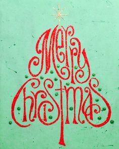 16x20 Christmas glitter canvas