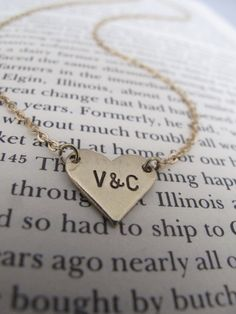 Personalized Love and Friendship Necklace // Heart by FierceDeer