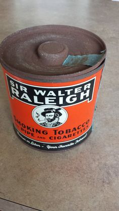 Sir Walter Raleigh Tobacco Tin by 3LittleWitches on Etsy, $15.00