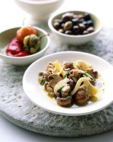 Roasted Red Pepper, Olive, and Caper Bruschetta | Recipe | Roasted Red ...