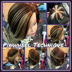 How to hair girl peek a boo color using the star pattern hairrrr pinwheel technique beautiful hair color by brittney boney solutioingenieria Gallery