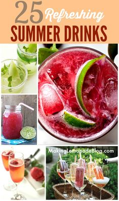 25 Best Summer Cocktails & Drinks-- they all look refreshing, but I especially love the last one! #cocktails #summer #recipes www.makinglemonadeblog.com