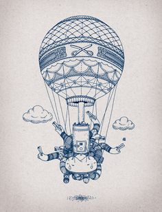 Cool illustration of a hot air balloon