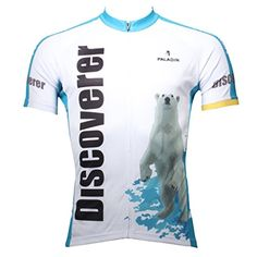 Paladinsport Men s Discovery Polar Bear White Short Sleeve Cycling Jerseys  Size XXXXXL Cycling Jerseys 0bc1dc65f