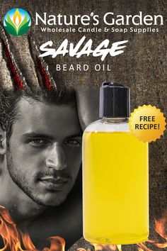 Free Savage Beard Oil Recipe by Natures Garden.