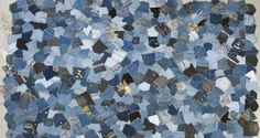 Patchwork Rug Created From Denim Pockets  This is one option for how to use my denim collection.