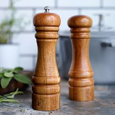 Williams-Sonoma Open Kitchen Acacia Salt Shaker Want Salt SHAKER, not mill or grinder. Matching peppermill