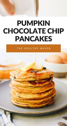 Add some spice to your regular ole� breakfasts with these Pumpkin Chocolate Chip Pancakes. They�re made with real pumpkin and sweetened with just a touch of maple syrup. You will fall head over heels for these fluffy and spicy and pancakes!