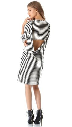 amazing back on this Willow Striped Jersey Dress, via shopbop