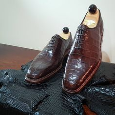 Ascot Shoes — A pair of Wholecut Croc ready for dispatch...