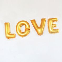 LOVE Gold or Silver Foil Balloons Jumbo Balloons by PartySparkles