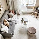 INTERIJER OD 31 M2;  Mali stan u pješčanim tonovima Ottoman, House Design, Chair, Table, Furniture, Home Decor, Belle, Houses, Decoration Home