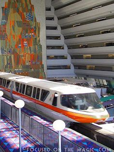 The Contemporary Resort Monorail ~ my 2nd home--would love for it to be my first. The best rooms in WDW can be found right here in the 'tower'. It's super cool watching a monorail wiz by just outside your room.