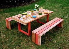 Cool Benches I Can Make These Outdoor Table Settings Picnic Tables Diy